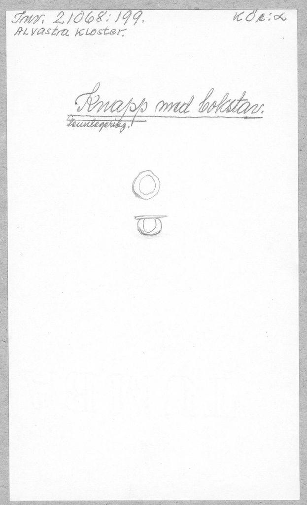 knapp (med bokstav) av sn-leg