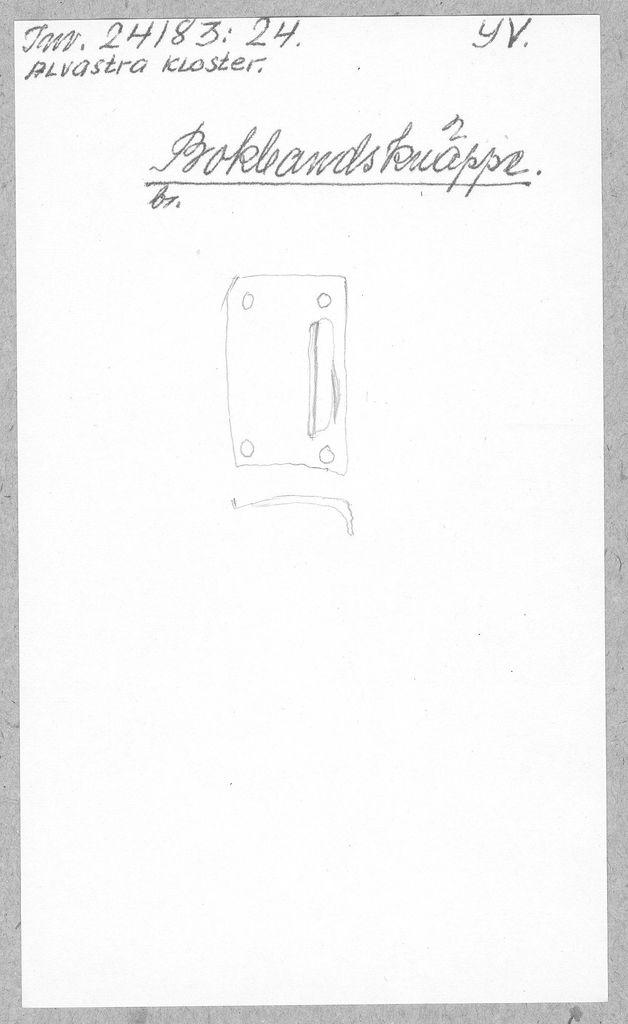 knäppe (bokbandsknäppe)