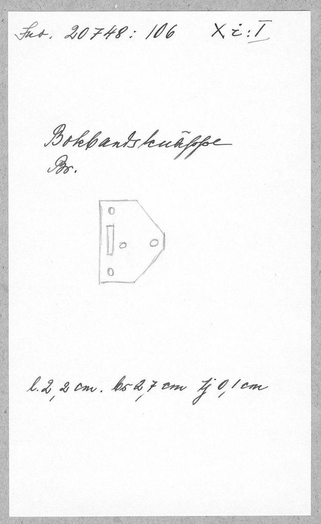 knäppe (bokbandsknäppe) av brons