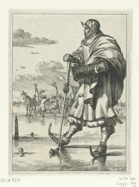 Kolfspeler op het ijs uit de serie Figures à la mode