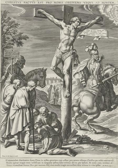 Kruisiging van Christus, linkerdeel