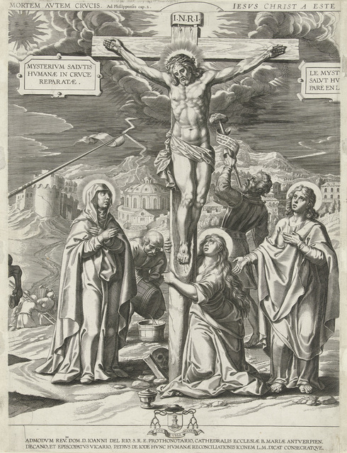 Kruisiging van Christus, middendeel