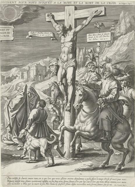 Kruisiging van Christus, rechterdeel
