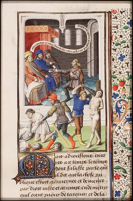 L. Junius Brutus has his two sons beheaded because they joined a conspiracy