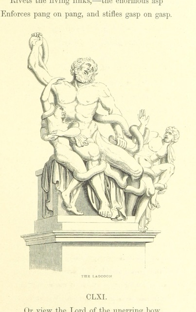 """Laocoön and His Sons from """"[Childe Harold's Pilgrimage. A romaunt. [With a portrait.]]"""""""