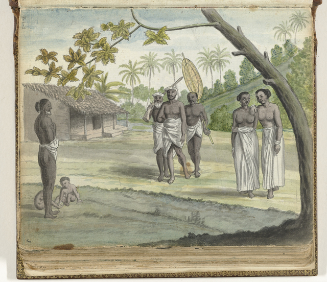 Lascorijns of Singalese soldaten op Ceylon