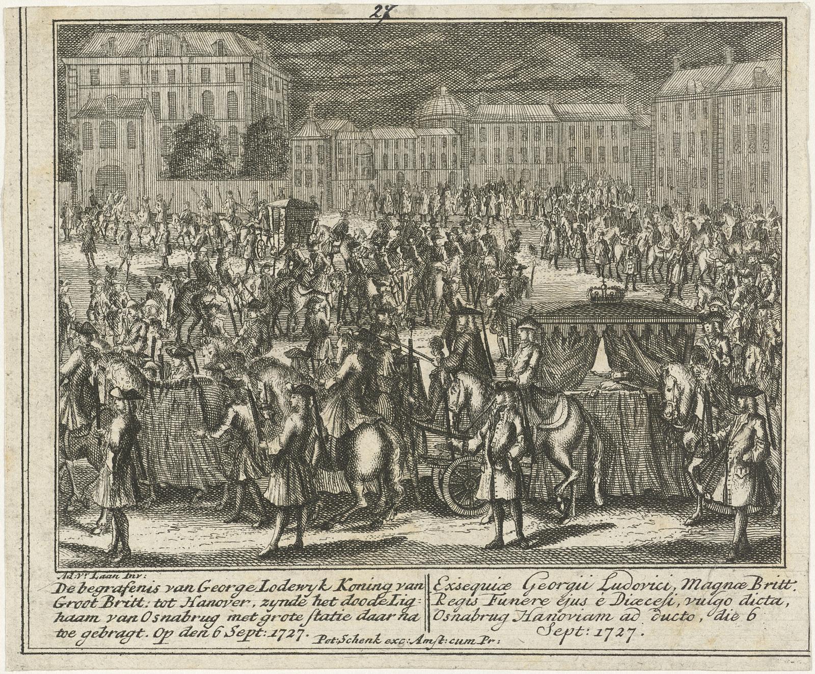 Lijkstatie van George I, koning van Engeland, 1727