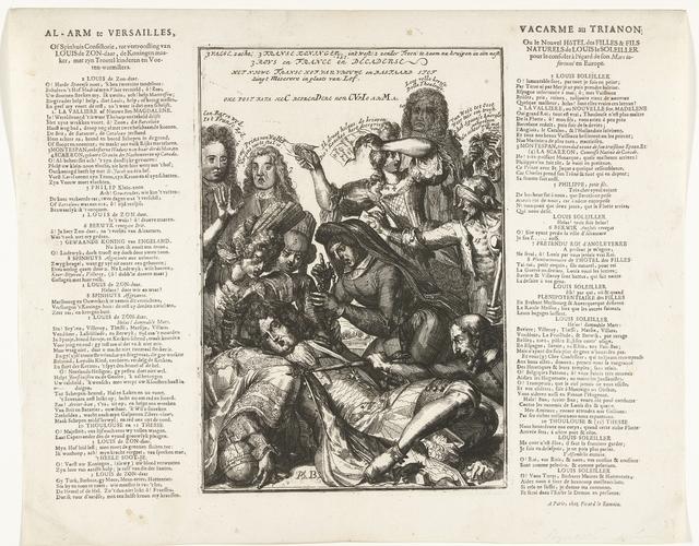Lodewijk XIV valt ziek neer na het eten van harde Spaanse noten, 1706