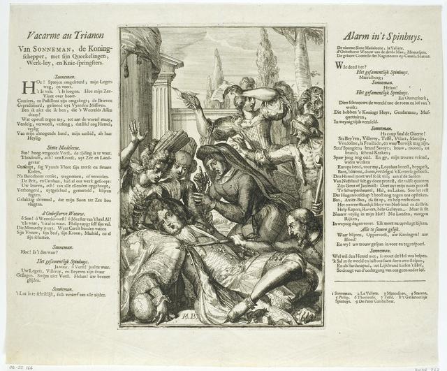 Lodewijk XIV valt ziek neer na het eten van harde Spaanse noten