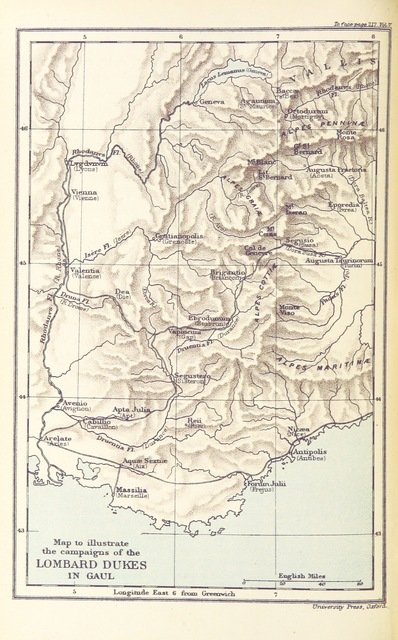 """map from """"[Italy and her Invaders, Vol. 1-4.]"""""""