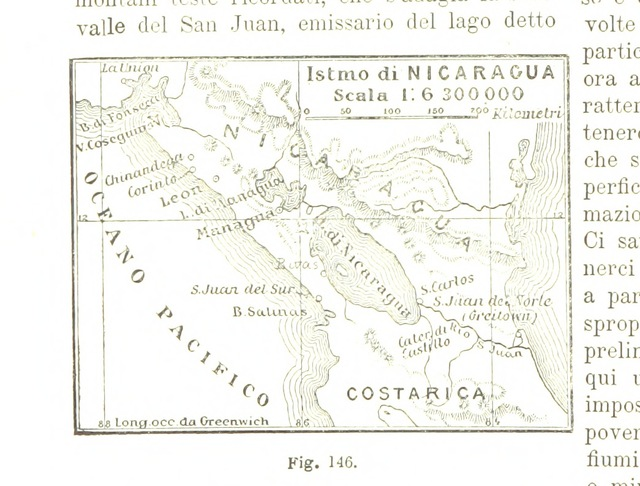 "map from ""La Terra, trattato popolare di geografia universale per G. Marinelli ed altri scienziati italiani, etc. [With illustrations and maps.]"""