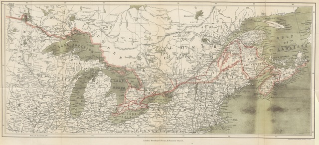 """map from """"My Diary North and South. (Canada; its defences, condition, and resources. Being a third and concluding volume of """"My Diary,"""" etc.)"""""""