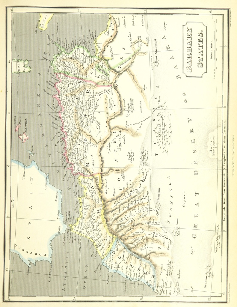 """map from """"The World as it is. A new and comprehensive system of Modern Geography, physical, political and commercial. [Vol. 1 and 2 by W. C. Taylor and C. Mackay; vol. 3 by W. C. Stafford.]"""""""
