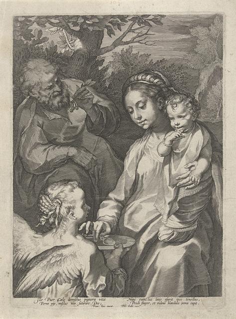 Maria geeft het Kind te eten