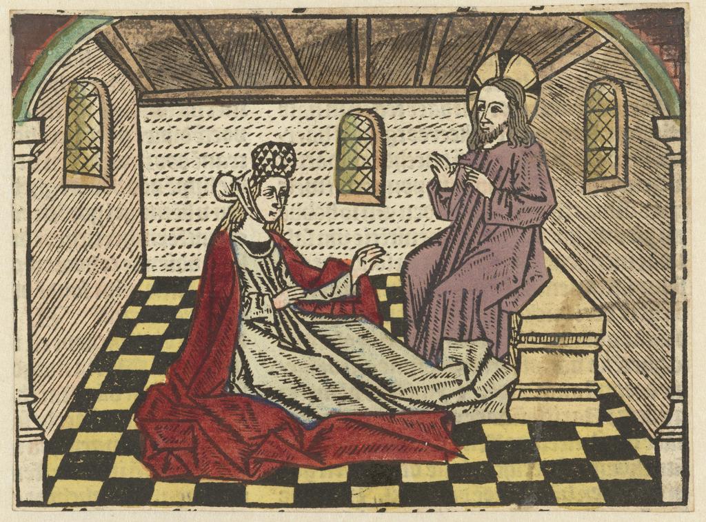 Maria Magdalena luistert naar Christus en bekeert zich