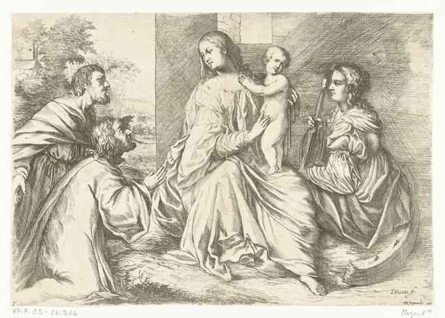 Maria met Christus en de heilige Catharina van Alexandrië