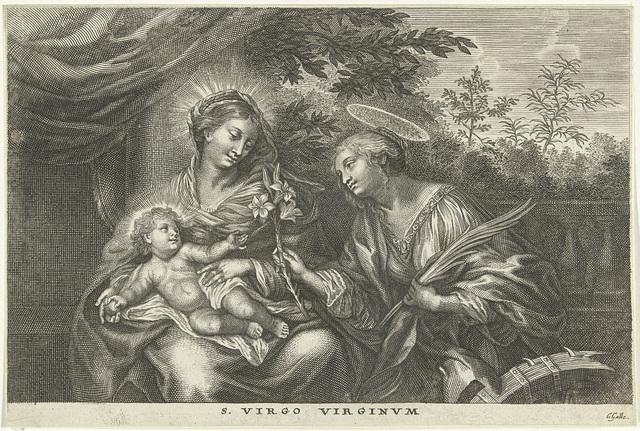 Maria met Kind en de H. Catharina van Alexandrië
