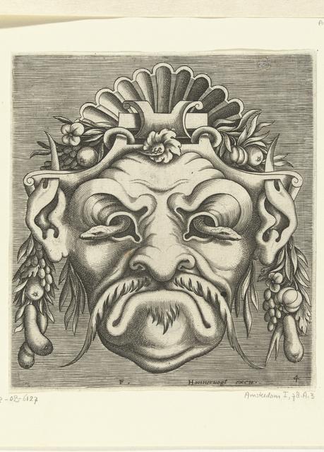 Masker met twee slangen die uit de oogkassen kijken