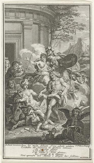 Matigheid, Minerva en Hercules overwinnen het kwaad
