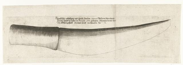 Mes aangetroffen op een Frans schip, waarmee de protestanten in Engeland vermoord zouden worden, 1688