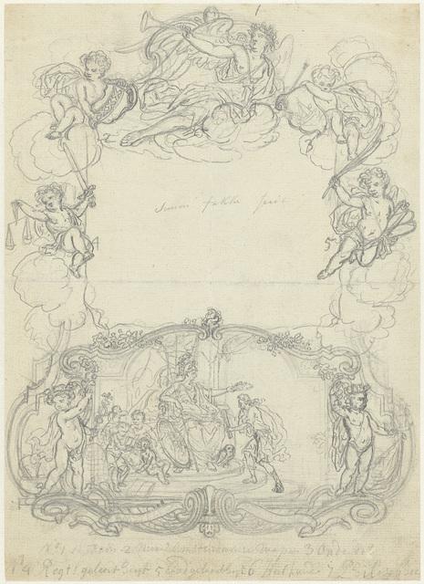 Minerva houdt lauwerkrans boven jongen met bul