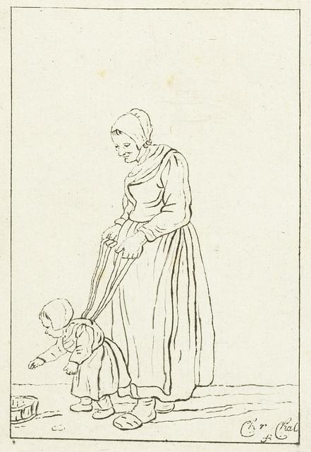 Moeder leert kind lopen