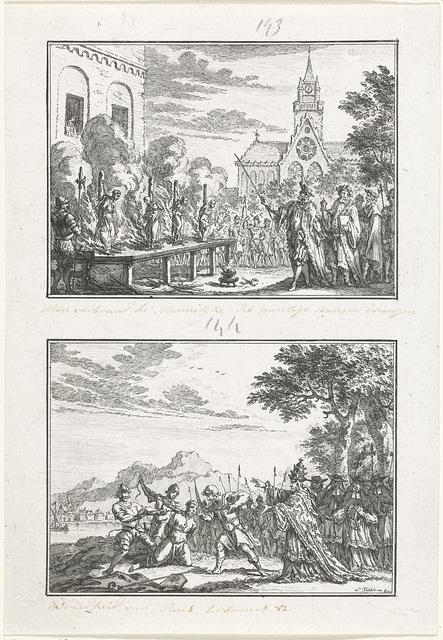 Monniken aan de schandpaal verbrand en de wrede daden van Paus Urbanus VI