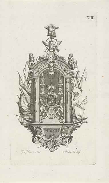 Monument voor de overleden prins Willem IV, 1751