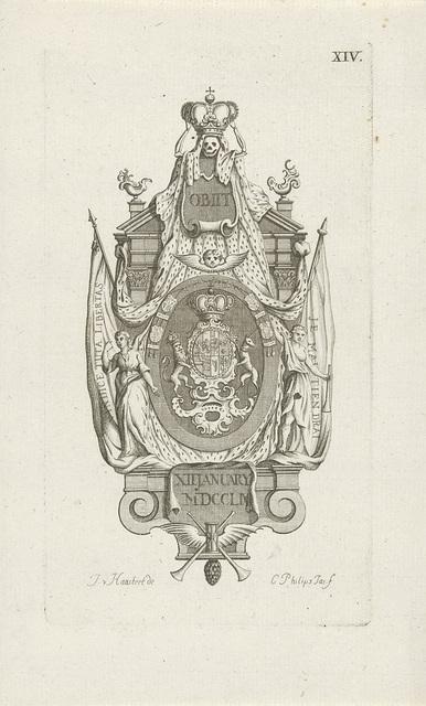Monument voor de overleden prinses Anna, 1759