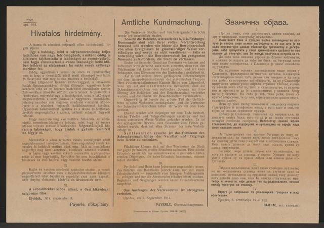 Nachrichten - Amtliche Kundmachung - Neusatz - Mehrsprachiges Plakat