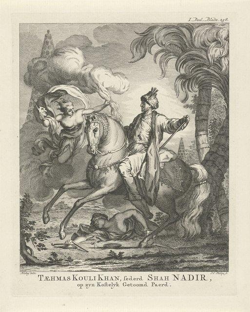 Nadir Sjah Afshar te paard