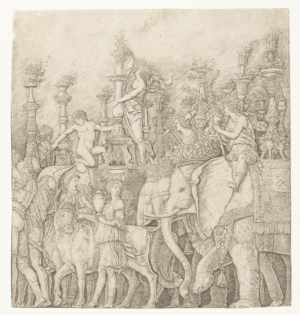 Olifanten in triomftocht van Caesar