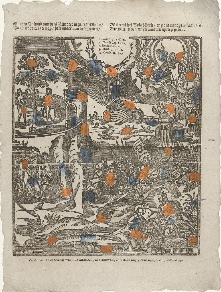 Om den inhoud van dees print ter dege te verstaan / Zo zoekt de texten op / hier onder aan beschreven / En neemt het Bybel-boek / en gaat dat open slaan / Die zullen u den zin en waaren uytleg geven