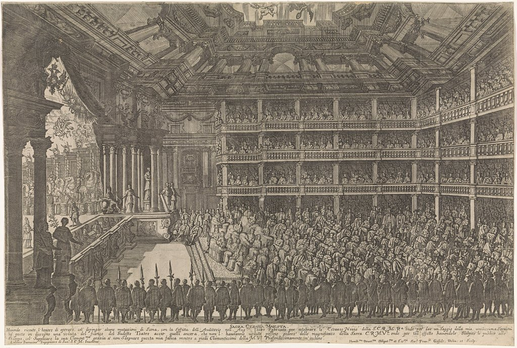 Operavoorstelling voor Keizer Leopold I, 1668