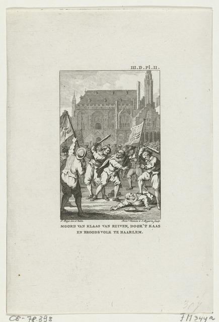 Opstand van het Kaas- en Broodvolk en moord op Claes van Ruyven te Haarlem, 1492