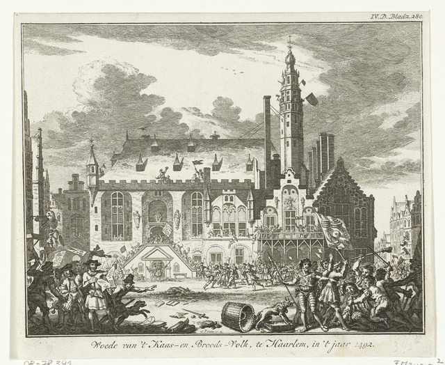 Opstand van het Kaas- en Broodvolk te Haarlem, 1492