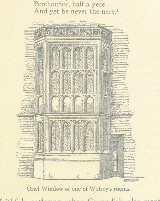 "oriel window from ""The History of Hampton Court Palace ... Illustrated, etc"""