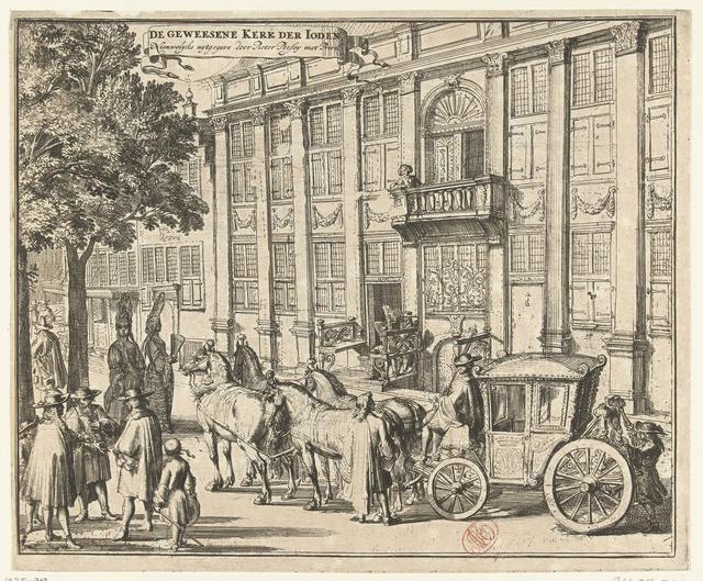 Oude Portugese Synagoge aan de Houtgracht te Amsterdam