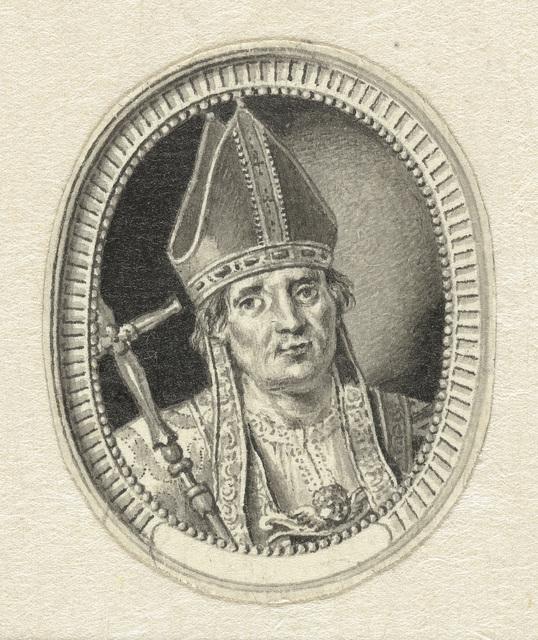 Ovaal portret van een bisschop
