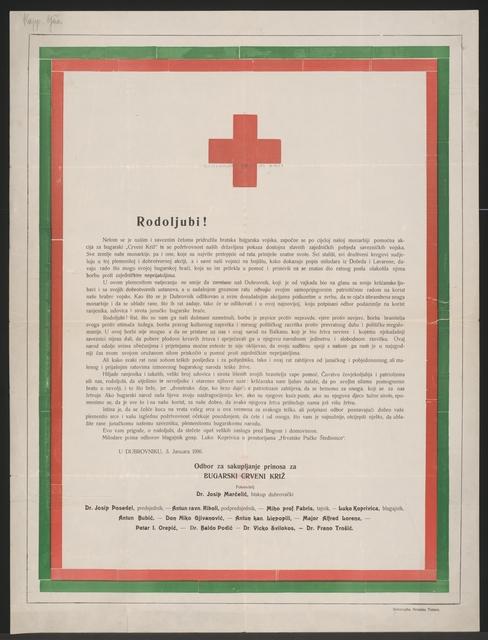 Patriotische Hilfsaktion - Bulgarisches Rotes Kreuz - Dubrovnik - In kroatischer Sprache