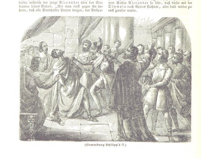 """Philip II of Macedon from """"Illustrirte Weltgeschichte: ein Buch für's Volk ... Mit Tabellen und Karten"""""""
