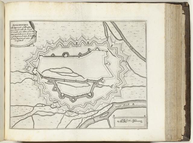 Plattegrond van Augsburg, ca. 1693-1696