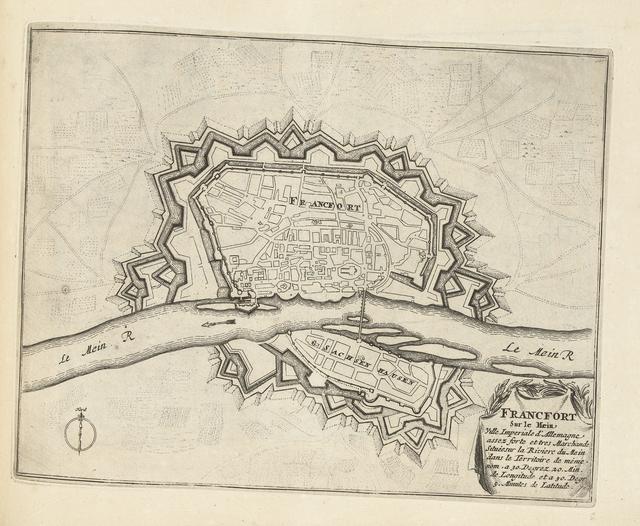 Plattegrond van Frankfurt am Main, ca. 1693-1696