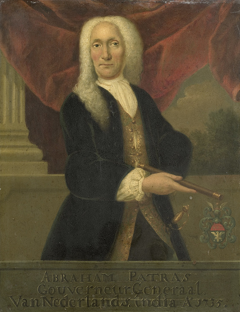 Portrait of Abraham Patras, Governor-General of the Dutch East India Company