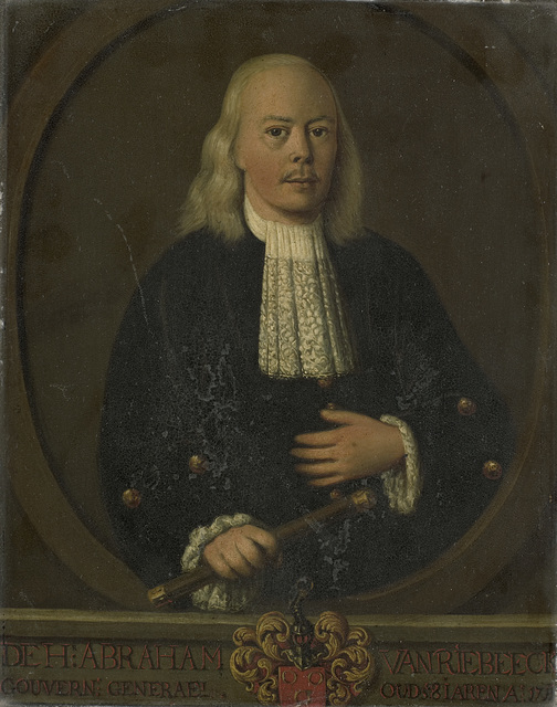Portrait of Abraham van Riebeeck, Governor-General of the Dutch East Indies