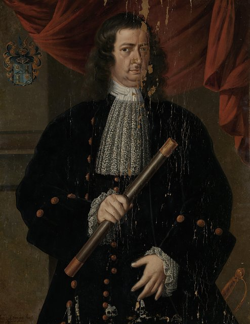 Portrait of Christoffel van Swoll (Swol, Zwol), Governor-General of the Dutch East Indies