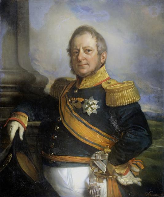 Portrait of Hendrik Merkus, Baron de Kock, Army Commandant and after 1826 Lieutenant Governor-General of the Dutch East Indies