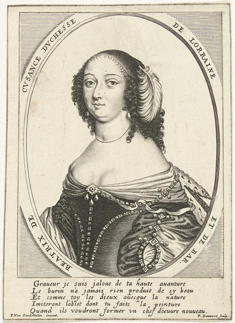 Portret van Béatrix Cusance, hertogin van Lorraine