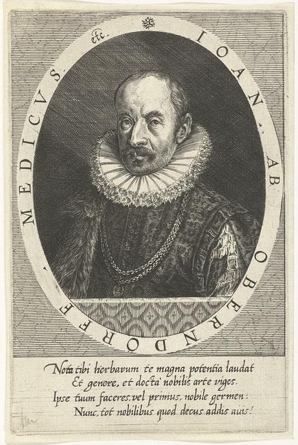 Portret van de arts Johan van Oberndorf