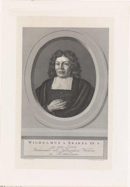 Portret van de predikant Willem van Brakel